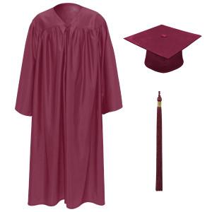 Garnet Little Scholar™ Cap, Gown & Tassel + FREE DIPLOMA