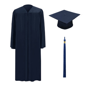 Navy One Way™ Cap, Gown & Tassel