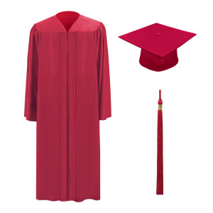 Red One Way™ Cap, Gown & Tassel