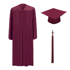 Garnet One Way™ Cap, Gown & Tassel