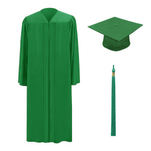 Green One Way™ Cap, Gown & Tassel