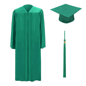 Emerald One Way™ Cap, Gown & Tassel