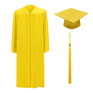 Gold One Way™ Cap, Gown & Tassel