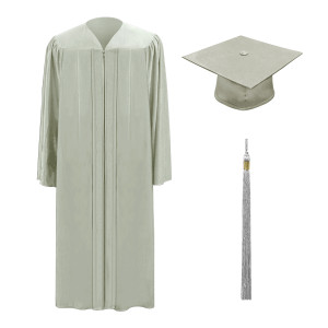 Silver One Way™ Cap, Gown & Tassel