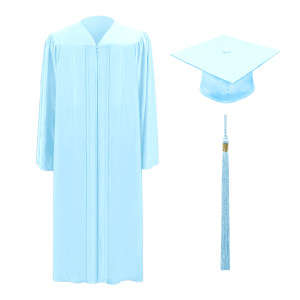 Light Blue One Way™ Cap, Gown & Tassel