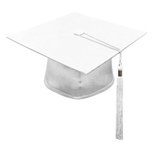 White One Way™ Cap & Tassel