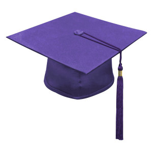 Purple One Way™ Cap & Tassel