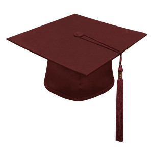 Maroon One Way™ Cap & Tassel