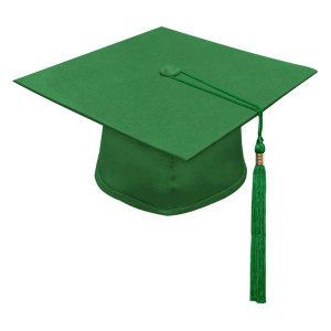 Green One Way™ Cap & Tassel