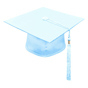 Light Blue One Way™ Cap & Tassel