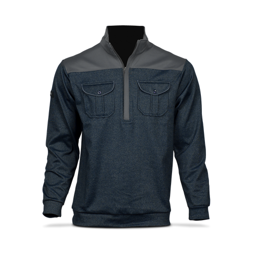 Matte Grey Half Zip Jacket