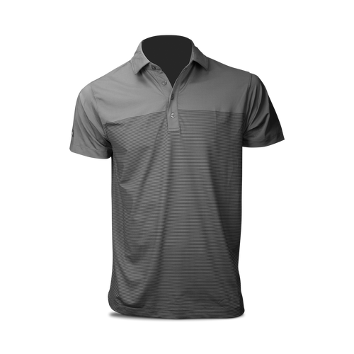 Matte Grey Stripe Polo