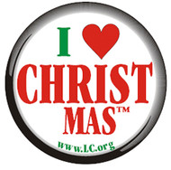 I Love CHRISTmas button pack of 10