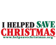 I Help Save Christmas Bumper Sticker