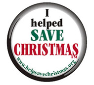 I Help Save Christmas Button Pack of 10