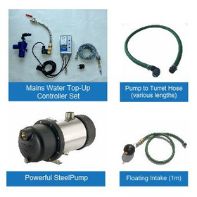 Rainwater Harvesting Pump Kit with Mains Water Top-Up controller Set for installation inside a Water Storage Tank .