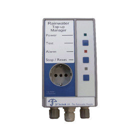 Mains Water Top-Up Controller Unit for Rainwater Harvesting Systems.