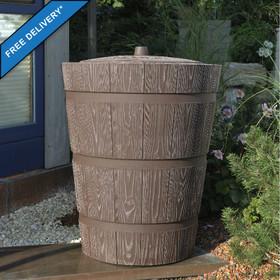 275 Litre Wooden Planter Effect Water Butt