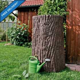 475L Water butt in the style of a Tree Trunk. Free Delivery Mainland UK.