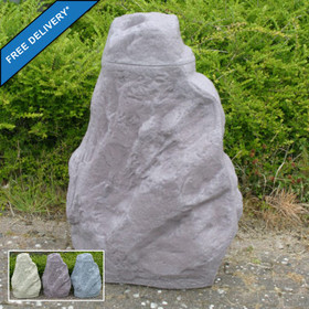 Rock effect Waterbutt available in three stone colours: Sandstone, Red Granite, Grey Granite. Free Delivery to Mainland UK