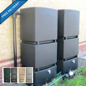 1600L Modular Rainwater Storage Tank System with Pump and Free Delivery - showing colour options.