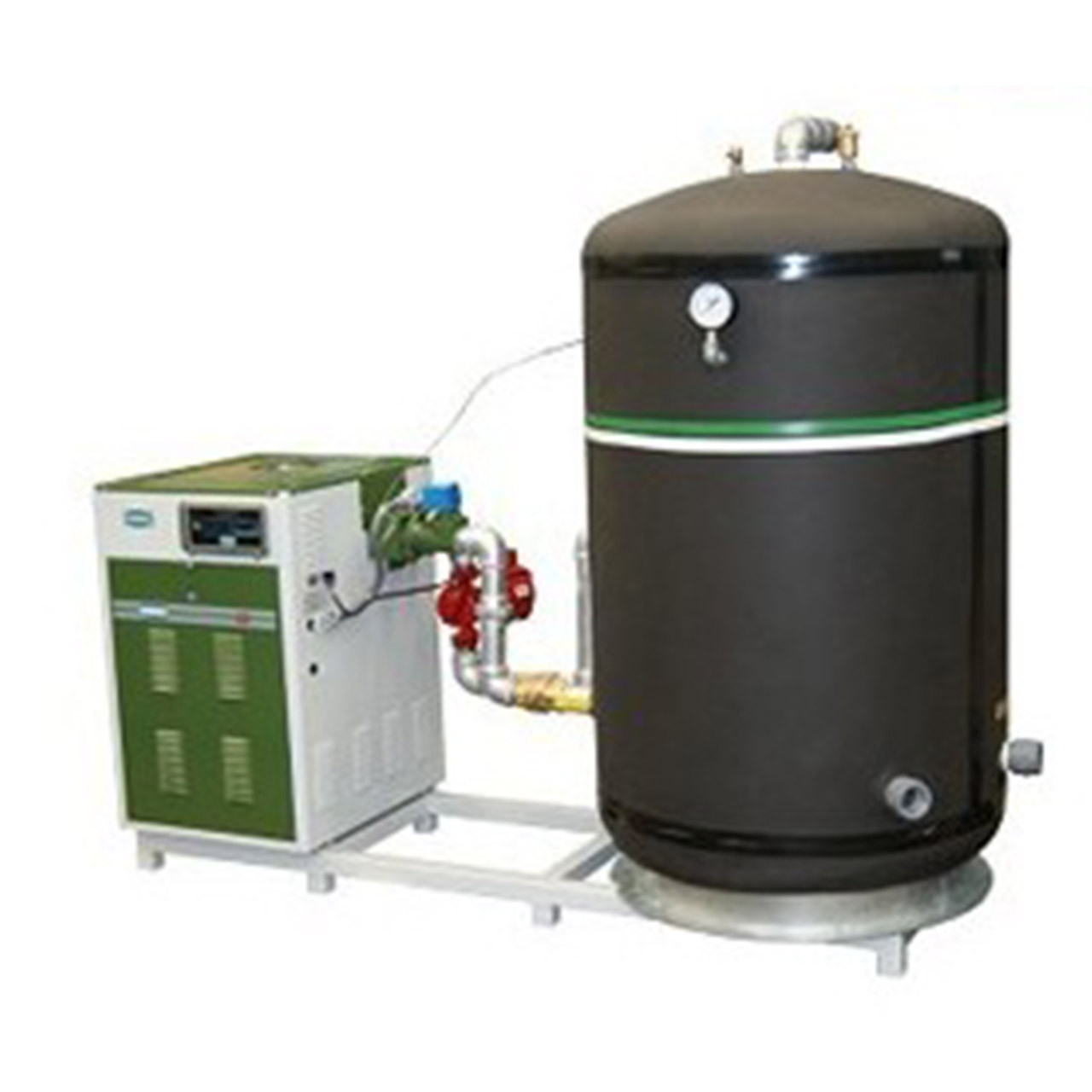 Sistema completo integral Acuacal para calentar agua de servicios generales LLC MassTerCal