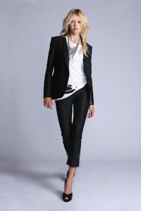 Georgie Wilhelmina Crop Pant in Black