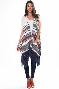 Goddis Easy Rider Sleeveless Cape In Tradewinds