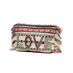 Ále By Alessandra All You Need Is Love Beaded Clutch