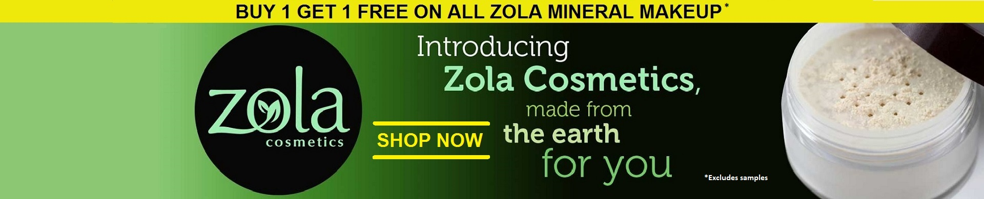 Mineral Makeup from Zola Cosmetics