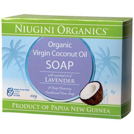 Niugini Organics Virgin Coconut Oil Soap - Lavender