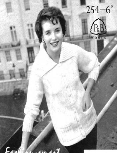 Vintage Ladies Aran Fashion Cardigan