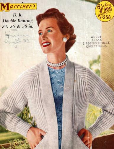 Vintage Ladies Aran Jacket