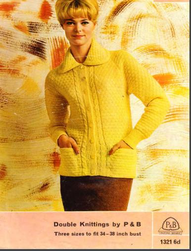Vintage Colored Large Collar Cardigan