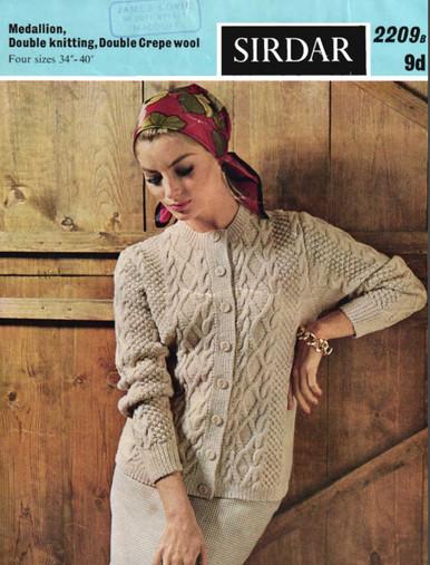 Ladies Vintage Luxury Aran Cardigan