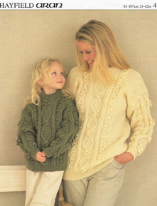 Vintage Mother and Daughter Aran Sweater