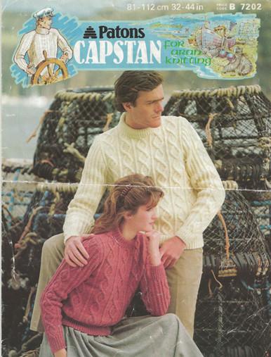 Vintage Unisex Cable Aran Sweaters