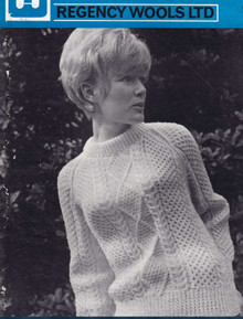 Vintage Ladies Corrig Aran Sweater