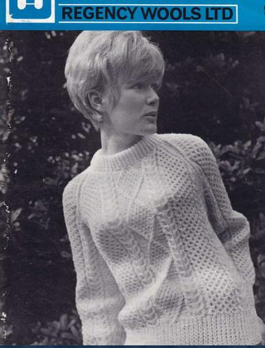 Vintage Ladies Corrig Aran Sweater