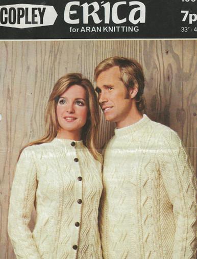 Vintage Unisex Aran Cardigan and Sweater