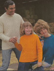 Vintage Family Aran Pullovers