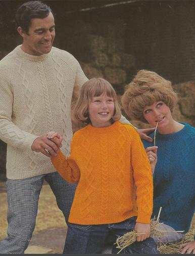 Vintage Family Aran Pullovers