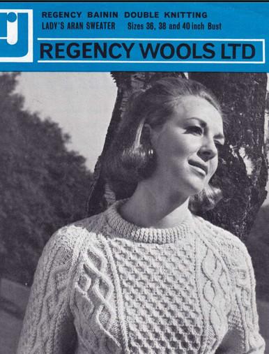 Ladies Vintage Cable Sweater