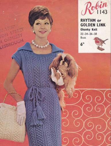 Ladies Vintage Aran Dress