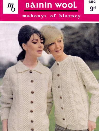 Ladies Vintage Two Cardigans Pattern