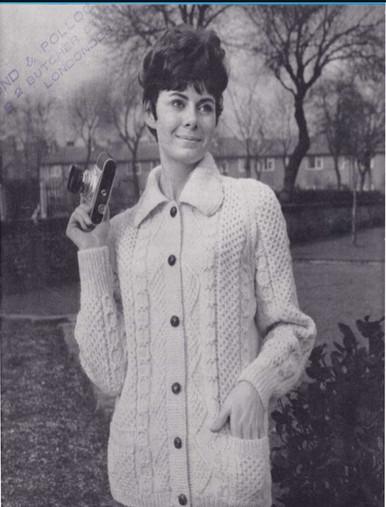 Ladies Vintage Regency Collar Cardigan