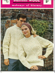 Unisex Vintage Aran Cable Sweater