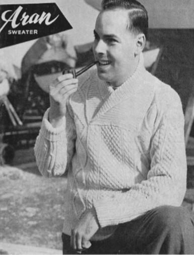 Men's Vintage Shawl Neck Sweater