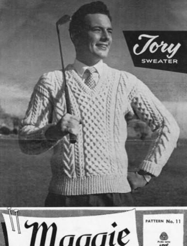 Men's Vintage V-Neck Sweater