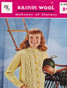 Children's Large Button Vintage Cardigan